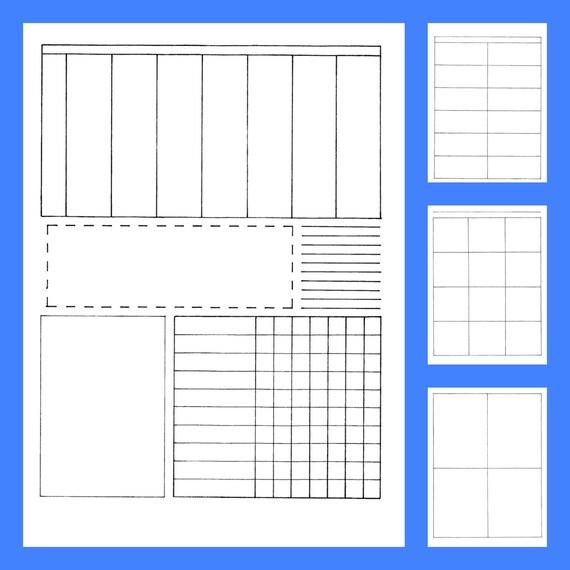 bullet journal style printable planner teacher lesson plans etsy