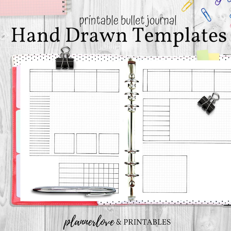 Printable Bullet Journal Trackers & Planner Templates Hand image 0