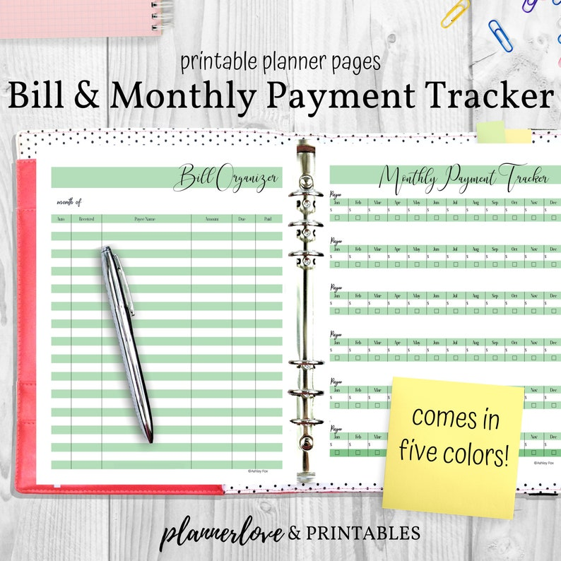 Printable Finance Trackers Personal Finance Planner Pages image 0