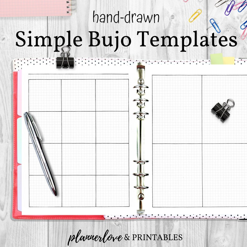 Versatile Bullet Journal Templates with Watermark Graph image 0