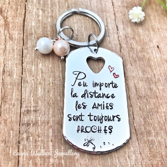 Personalised French Friend Keyring, Best Friend Keyring, Meilleure Amie