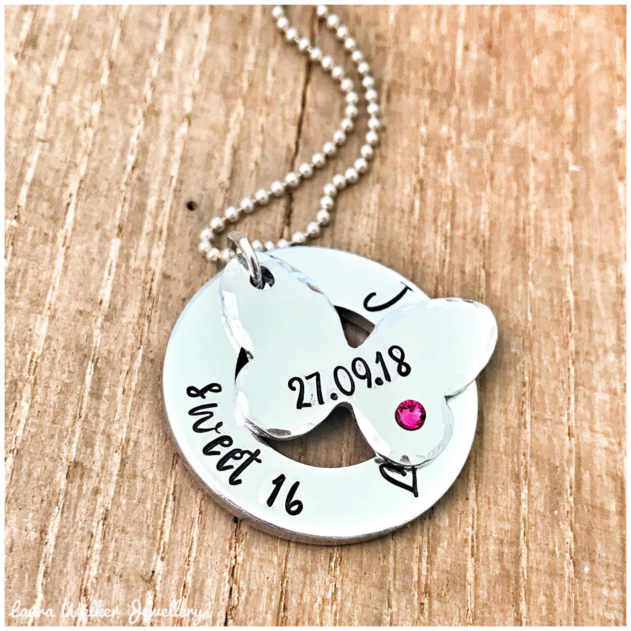 16th Birthday Necklace Sweet 16 Pendant 16th Birthday Gift