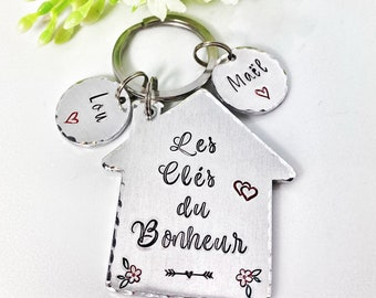 Maison d'Amour, House of Love Keychain, Gift New Home Owner, New House Gift, Couples New Home Keyring
