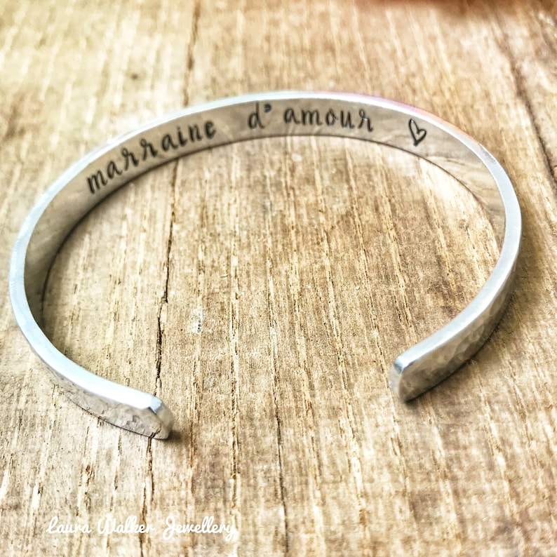 97f979ac43e Personalised Cuff Bangle Custom Metal Cuff Stamped Skinny | Etsy