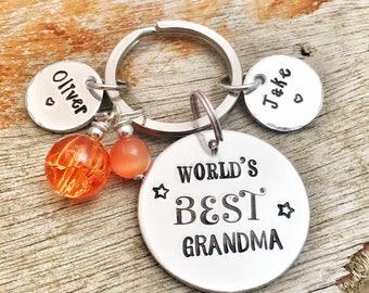 Personalised Grandma Keyring, Present Grandma, This Grandma Belongs to, Custom Keychain Gran