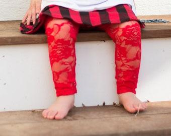 girls christmas leggings baby christmas tights red lace leggings toddler christmas leggings holiday red tights toddler lace leggings