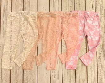e9dac5b77ddd1 Baby Lace Leggings, Toddler Lace Leggings, Girls Lace Leggings, Easter  Leggings, Pink Lace Leggings, Easter Tights, Newborn Girl Leggings