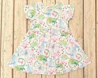 6ec361cc Girls Dinosaur Dress, Toddler Dinosaur Dress, Pink Dinosaur Birthday Dress,  Baby Dino Dress, Dinosaur First Birthday Outfit, Little Girl
