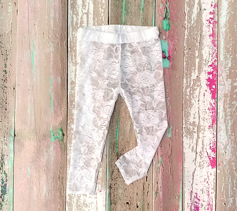 24e5c0311b6ae Ivory Lace Leggings Toddler Lace Leggings Lace Tights Baby | Etsy
