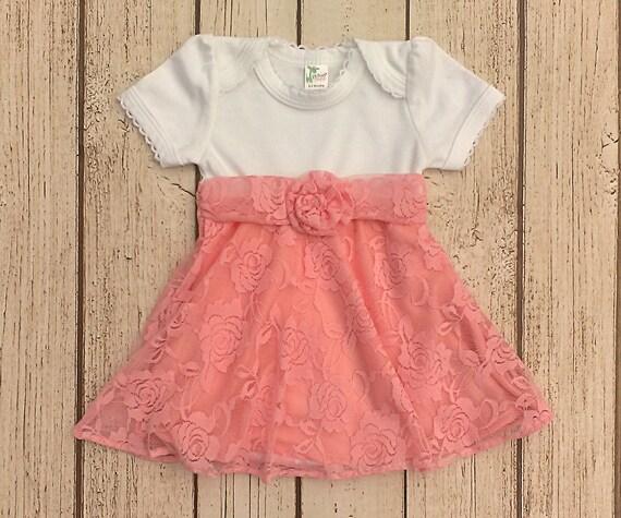 c8d2155ad Baby Girl Easter Dress Newborn Easter Dress Pink Lace Dress