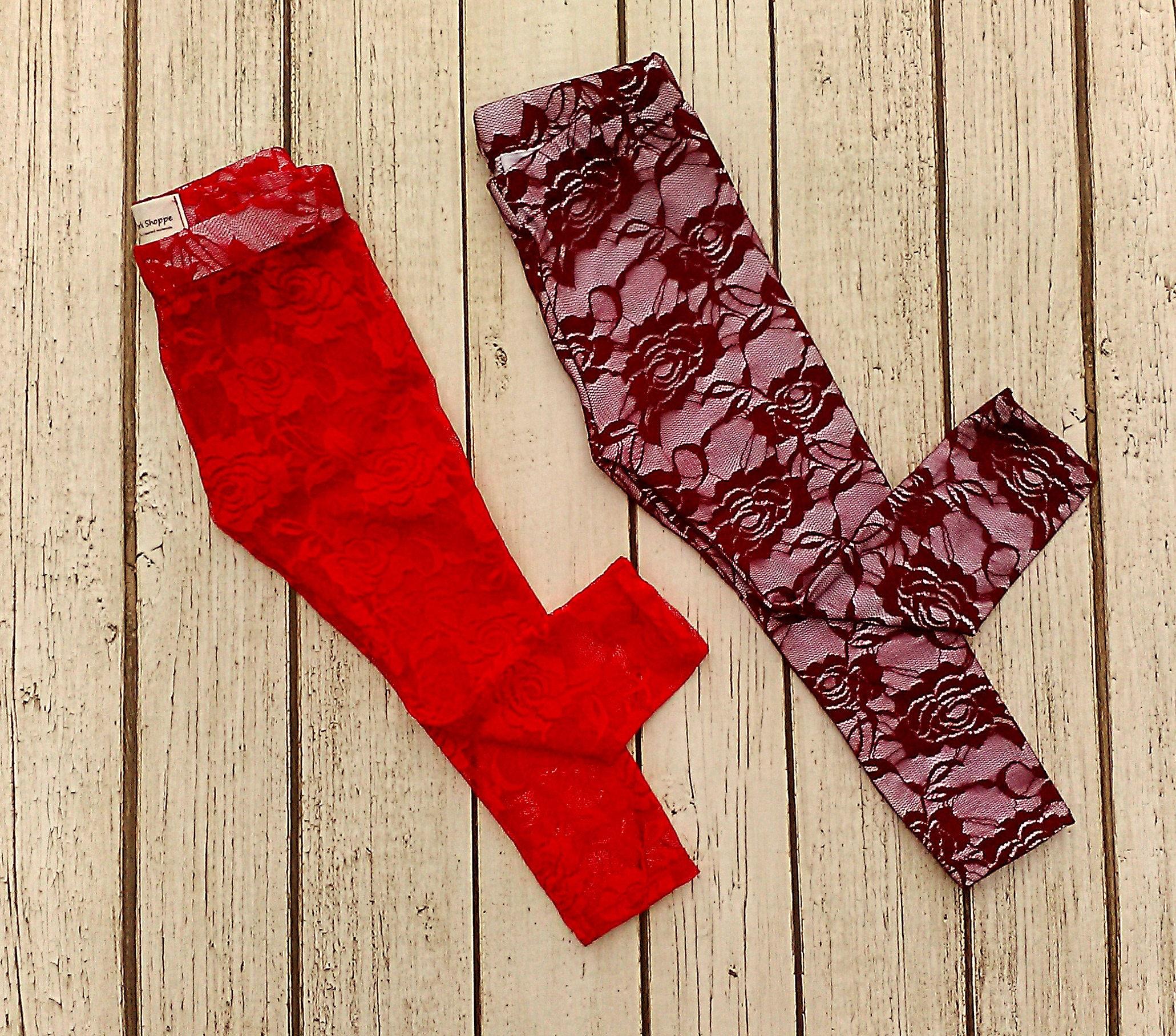 c610897e5b8b0 Girls Lace Leggings Girls Christmas Leggings Baby Girl | Etsy