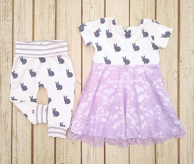 214fba3a5 Easter Sibling Outfits Matching Easter Outfits Big Sister   Etsy