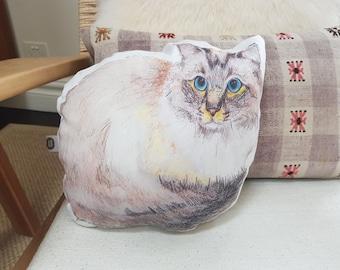 Custom cat pillow | Custom pet Pillow, Pet Memorial, Pet Loss Gift, cat shaped pillow, Personalized cat, cat Memorial, pet photo pillow
