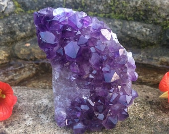 Raw Amethyst Geode from Uruguay - AA Quality Standing Amethyst Crystal Cluster