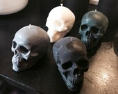 8oz large colored skull candle halloween candle design candle home decor halloween decoration pillar candle