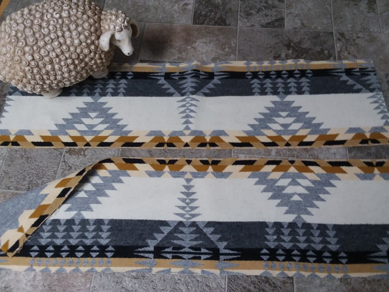 2 Piece Lot Rancho Arryo Pendlton Wool Blanket REMNANT New Tribal Fabric- FREE SHIPPING on Three or more items :