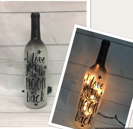 Best friend gift love you to the moon and back Lighted | Etsy