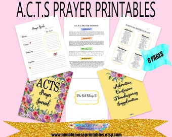 picture relating to Acts Prayer Printable referred to as Functions prayer magazine Etsy