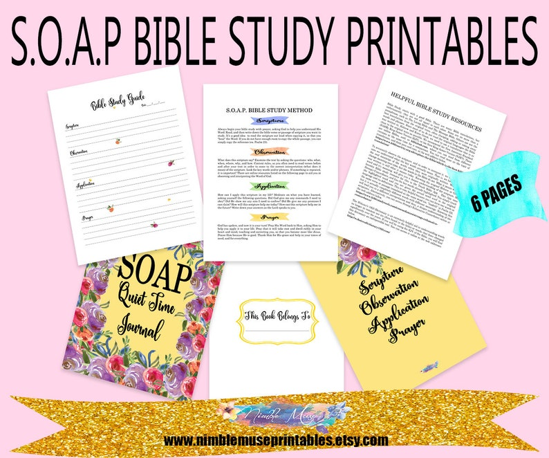 picture regarding Soap Bible Study Printable titled Cleaning soap Bible Examine Printable, 8.5x11 S.O.A.P. Journaling Webpages, Bible Research Laptop computer Webpages, Inductive Bible Examine Direct, Serene Season Magazine