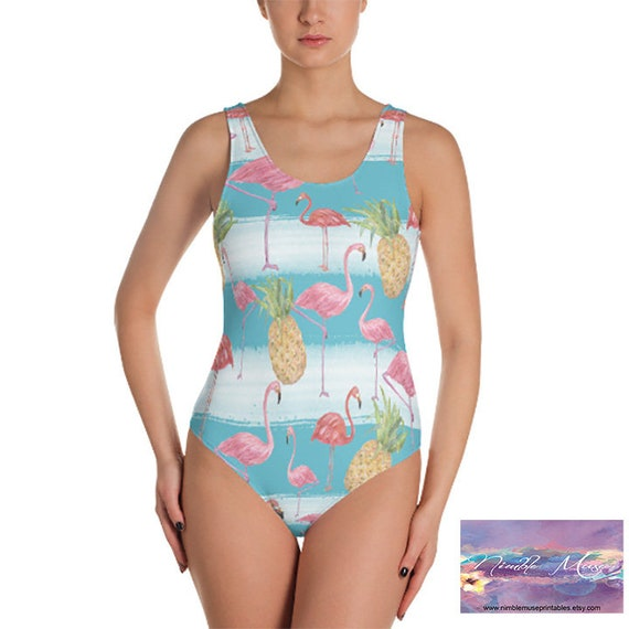 Christmas One Piece Swimsuit.Tropical One Piece Swimsuit Flamingos And Pineapple Swimsuit One Piece Swimsuits Teen Tropical Swimwear One Piece Bathing Suit For Women