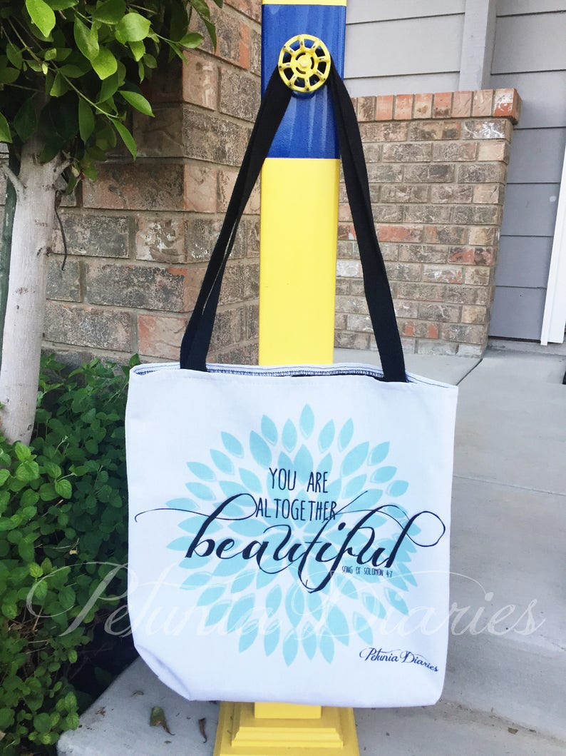 You Are Tote // Large Tote Bag  Shopper  Inspirational  image 0