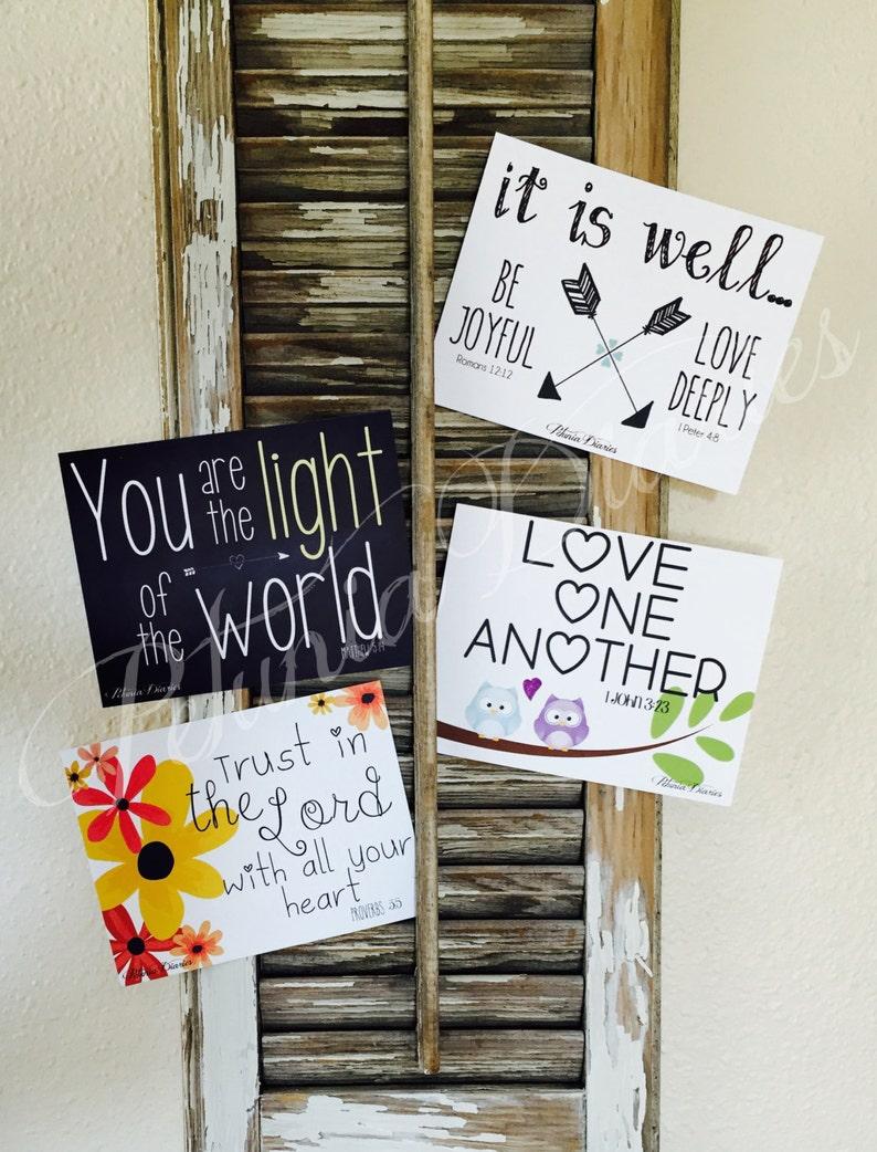 Cheerful Set: Encouragement Cards  Scripture  Faith  Hope image 0