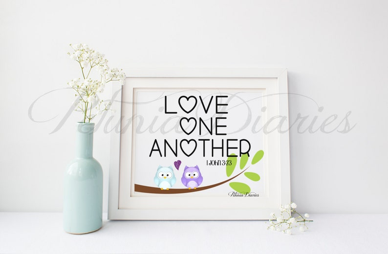 Love One Another  8x10  Digital  Instant Download  image 0