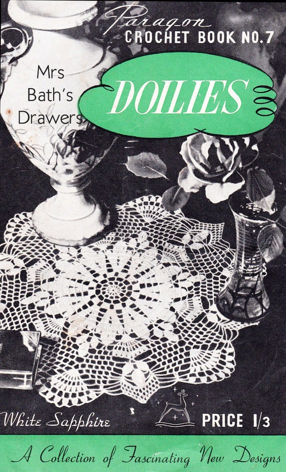 Vintage Crochet Pattern Book Doilies 5 Crochet Doily Etsy