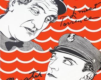 Buster Keaton Vintage Movie Poster, Steamboat Bill Jr, 1928, Hollywood Memorabilia, Instant Digital Download, Digital Print