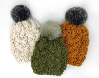 f8449ad06c0 Adult braided cable hat