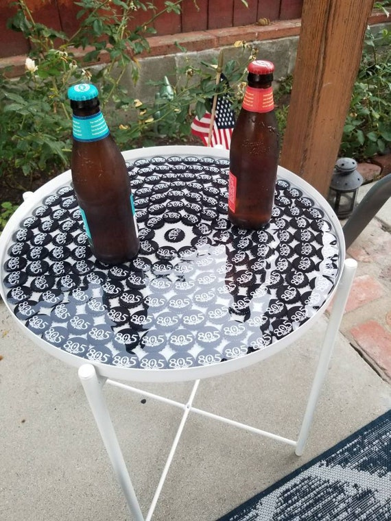 Terrific 805 Beer Cap Side Table White Alphanode Cool Chair Designs And Ideas Alphanodeonline