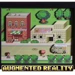 EarthBound Shadow Box - Onett - SNES - Super Nintendo - 3D Shadow Box Glass Frame - 12x10 - Video Game Art - Augmented Reality