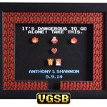 Legend of Zelda Shadow Box - Take This Custom - NES - Nintendo - 3D Shadow Box Acrylic Frame - 12x10 - Anniversary Gift - Wedding Gift
