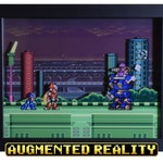 Mega Man X - Zero & Vile - Shadow Box - SNES - Super Nintendo - 3D Shadow Box Acrylic Framed - 12x10 - Retro Artwork - Augmented Reality