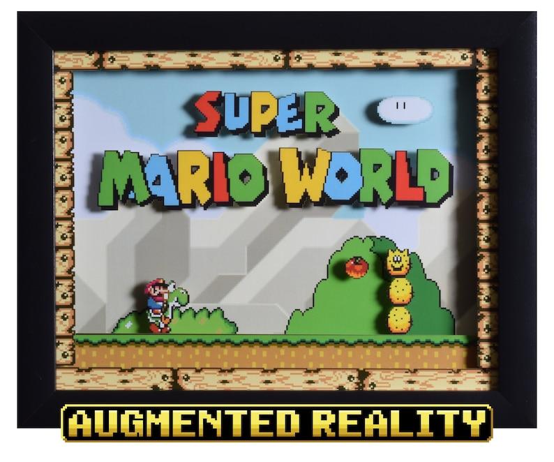 Super Mario World Shadow Box  Title Screen  SNES  Super image 0