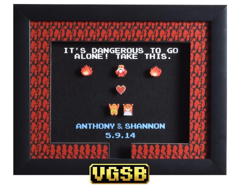Legend of Zelda Shadow Box  Take This Custom  NES  Nintendo image 0