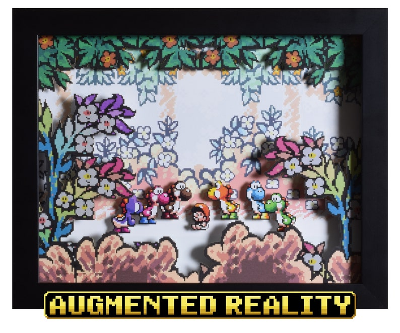 Super Mario World 2 Augmented Reality Shadow Box  Baby Mario image 0