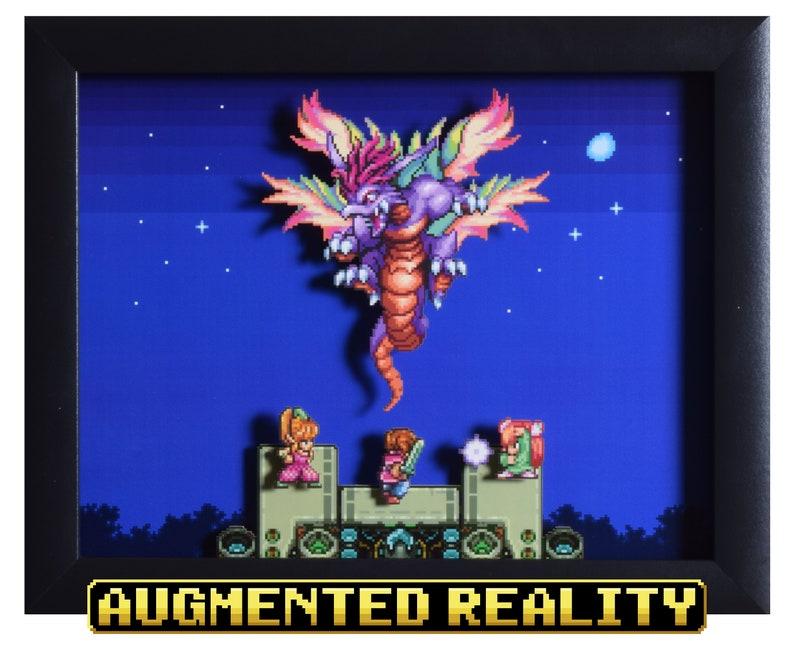 Secret of Mana Augmented Reality Shadowbox  Mana Beast  SNES image 0