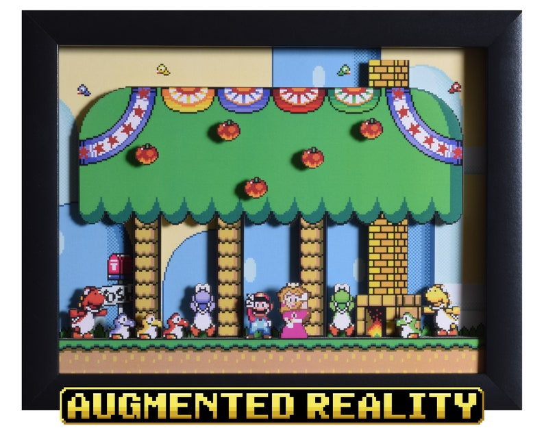 Super Mario World Augmented Reality Shadowbox  Yoshi's image 0