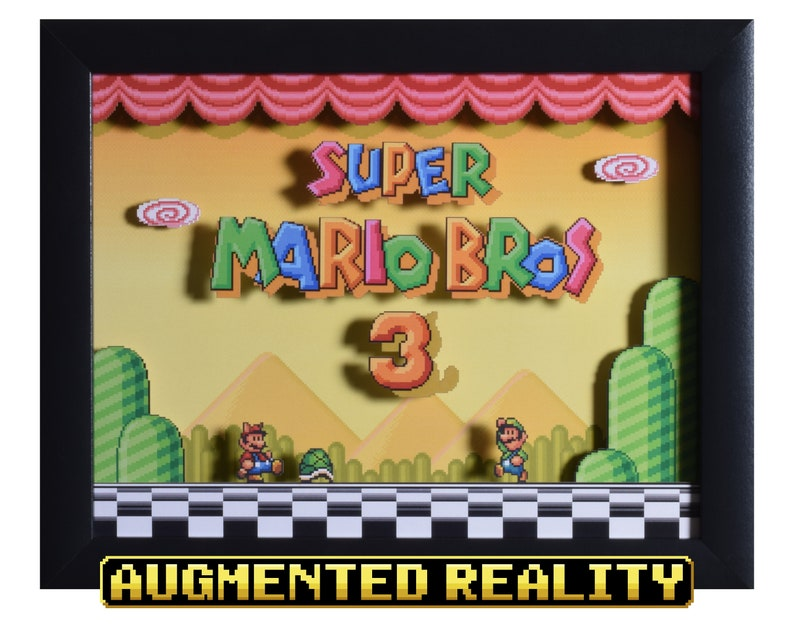 Super Mario All Stars Shadow Box  Super Mario Bros 3  SNES  image 0