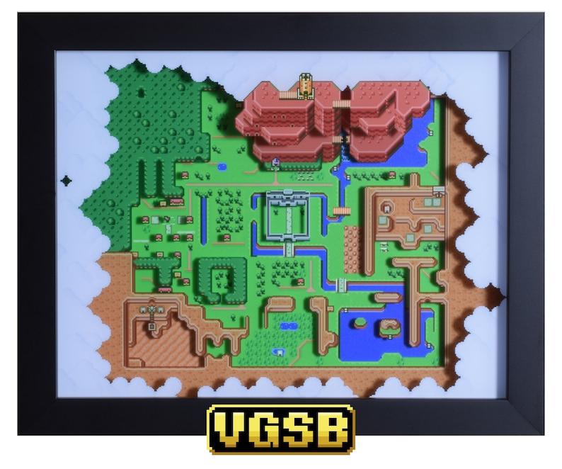 Legend of Zelda  The Light World Shadow Box  Hyrule Map  image 0