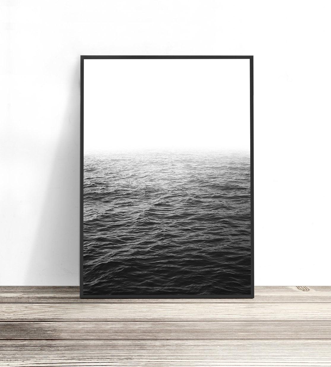 Ocean wall art black and white photography large wall art ocean print photo print coastal decor water art wave sea water print