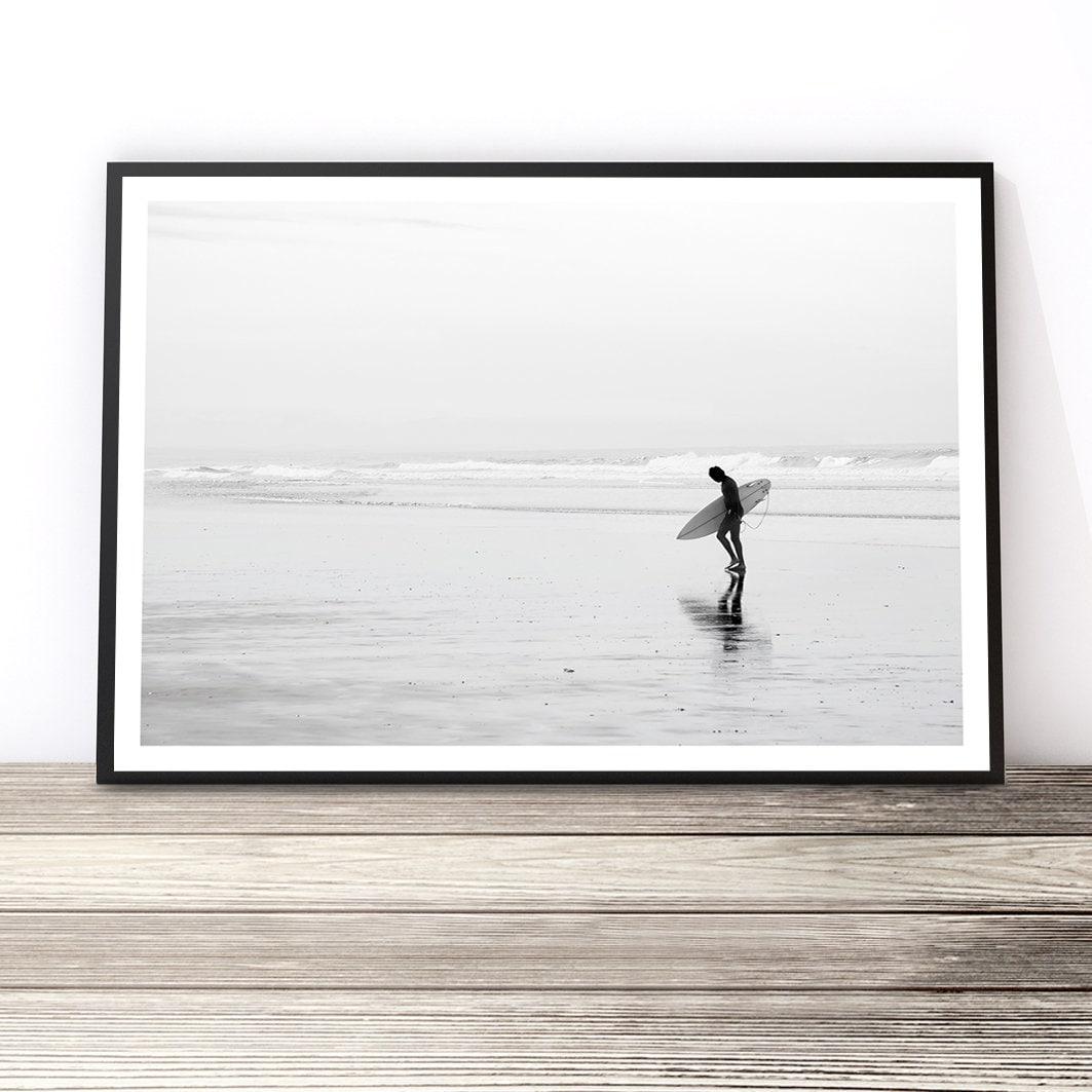 Surf art beach art beach photography black and white surf print coastal surf photography beach print surfer decor surf wall art