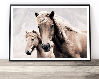 Horse Print, Farmhouse Decor, Rustic Wall Art, Boho Decor, Horse Photography, Animal Art, Southwestern