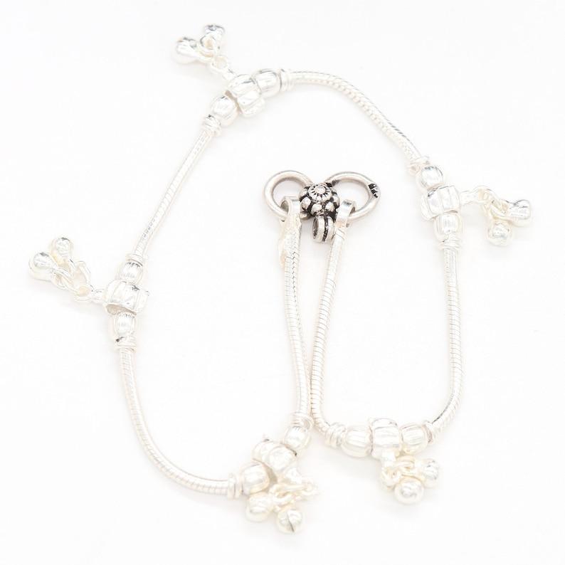Tribal /& Vintage Look 925 Solid Sterling Silver Chain Anklet Handmade JewelleryFor Gift