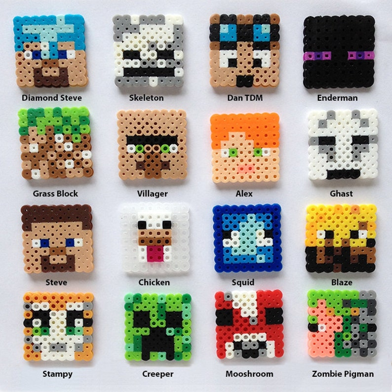 Minecraft Inspired Awesome Block Set Etsy