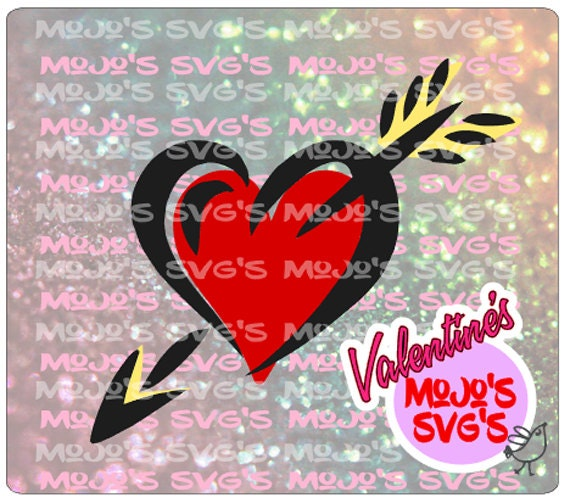 Valentines Day Svg Valentines Day Heart Svg Heart With Arrow Etsy