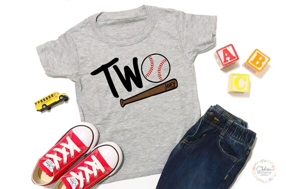 Personalized 2nd Birthday Shirt Baseball
