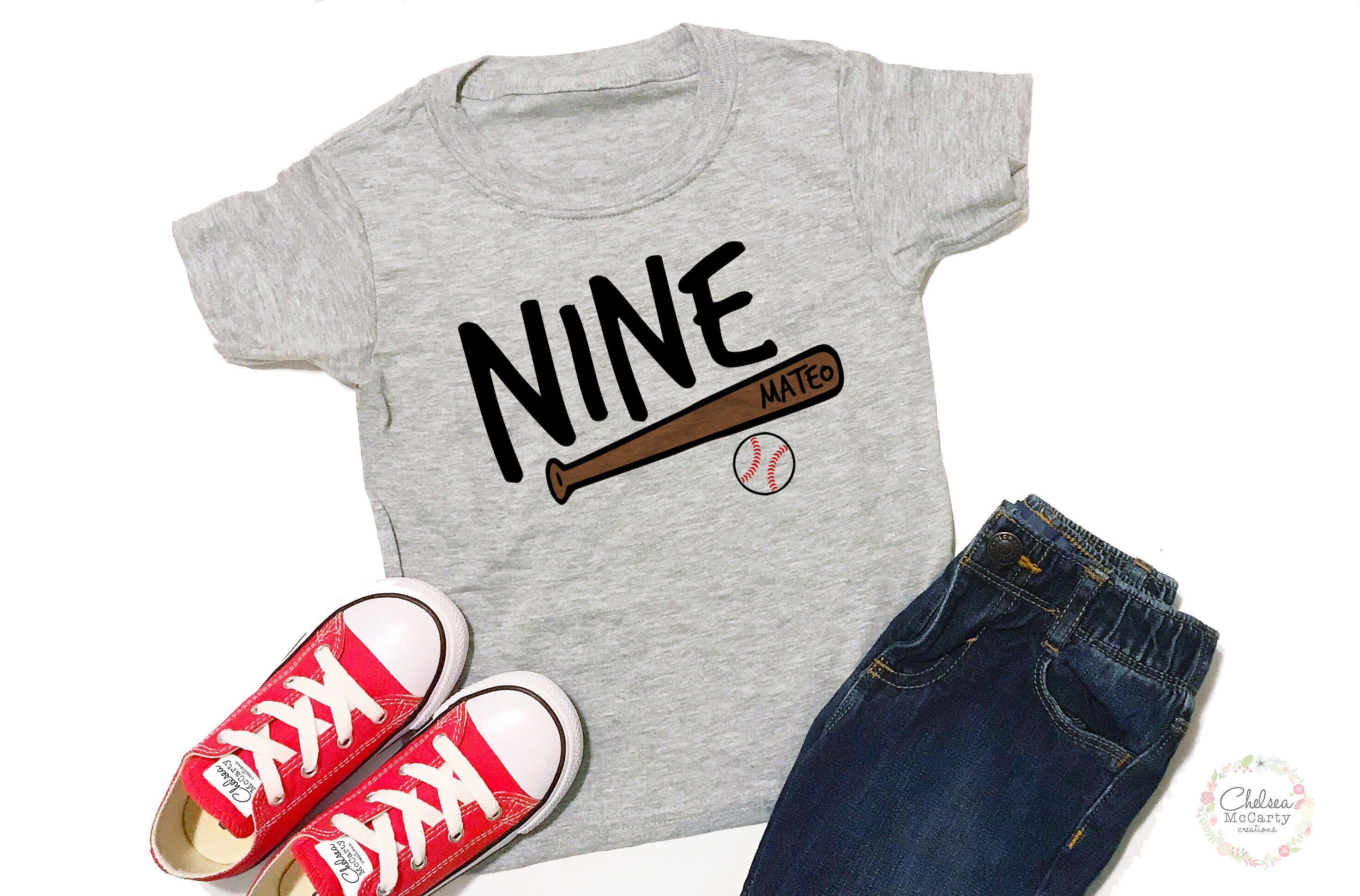 Personalized 9th Birthday Shirt 9 Boy