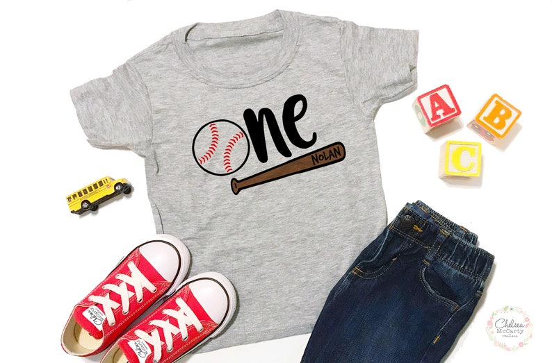 Personalized 1st Birthday Shirt Baseball